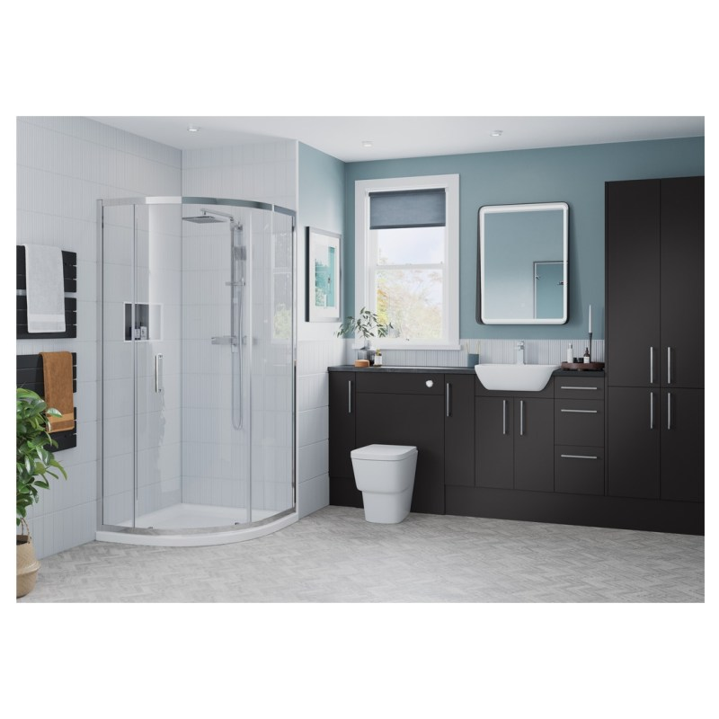 Bathrooms To Love Alba 300mm 2 Door Tall Unit Matt Grey