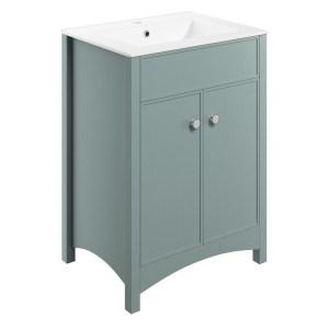 Bathrooms To Love Lucia 610mm Vanity Unit & Basin Sea Green Ash