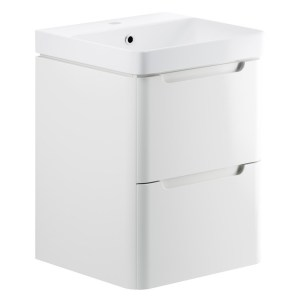 Bathrooms To Love Lambra 500mm Wall Cloakroom Unit Pack White Gloss