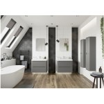 Bathrooms To Love Lambra 600mm Wall Unit & Basin Matt Grey