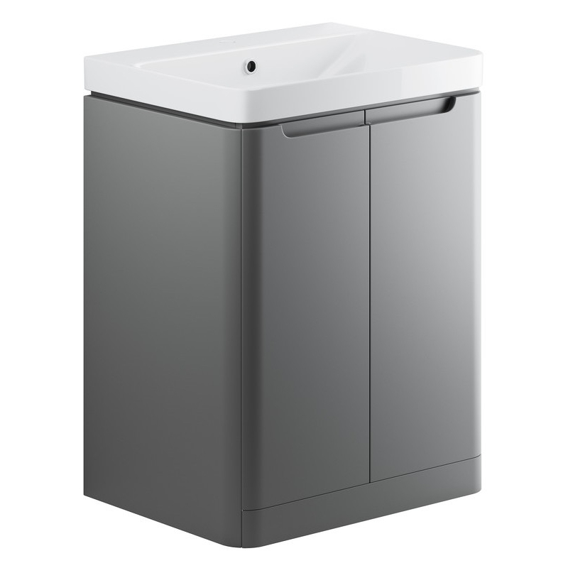 Bathrooms To Love Lambra 600mm Floor Vanity Unit & Basin Matt Grey