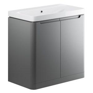 Bathrooms To Love Lambra 800mm Floor Vanity Unit & Basin Matt Grey