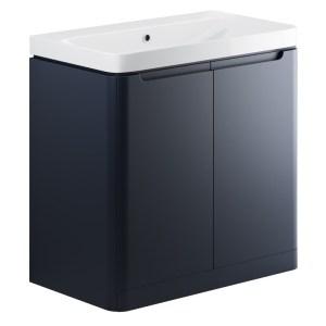 Bathrooms To Love Lambra 800mm Floor Unit & Basin Matt Indigo