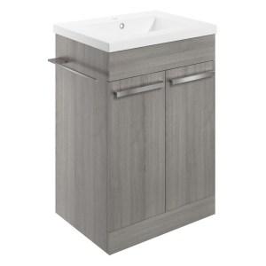Bathrooms To Love Morina 615mm Floor Vanity Unit & Basin Elm Grey