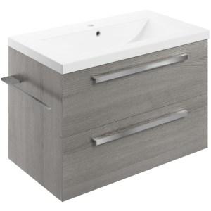 Bathrooms To Love Morina 815mm Wall Vanity Unit & Basin Elm Grey