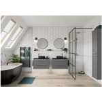 Bathrooms To Love Morina 815mm Wall Unit & Basin Matt Urban Grey