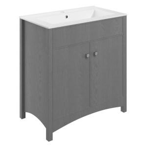 Bathrooms To Love Lucia 810mm Vanity Unit & Basin Grey Ash
