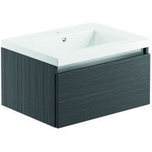 Bathrooms To Love Carino 600mm Wall Unit & Basin Graphitewood