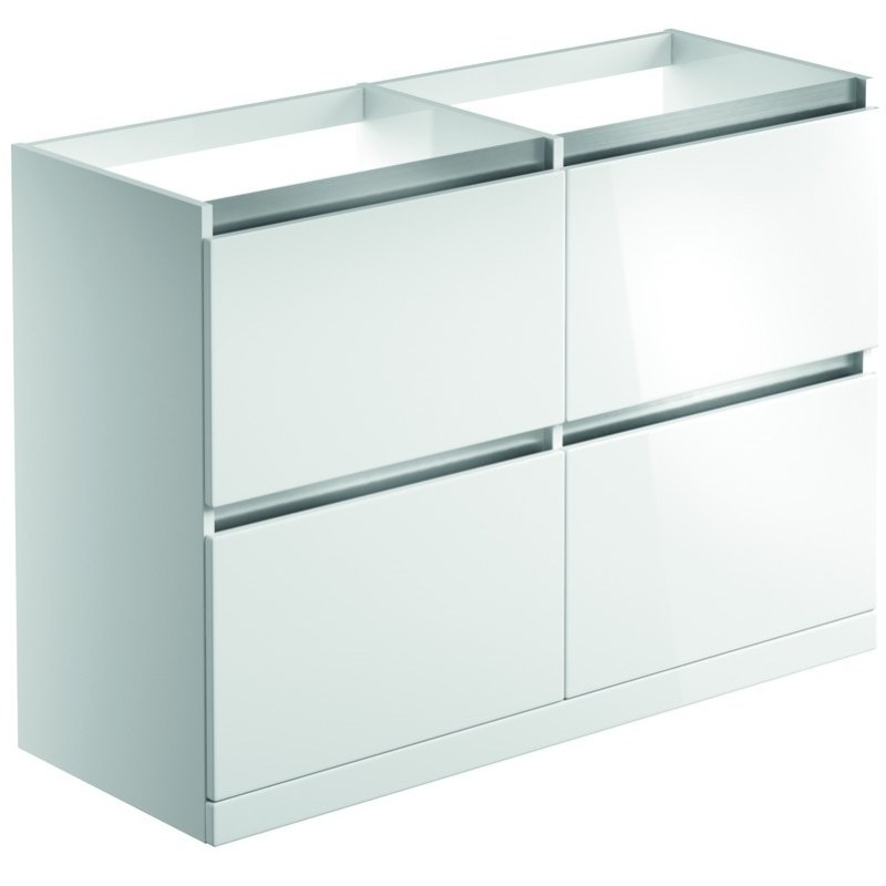Bathrooms To Love Carino 1200mm Floor Vanity Run White Gloss