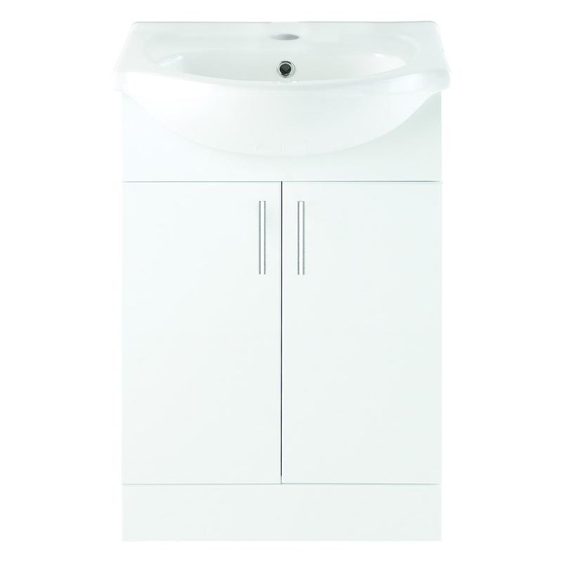 Bathrooms To Love Vista 550mm Unit & Basin White Gloss