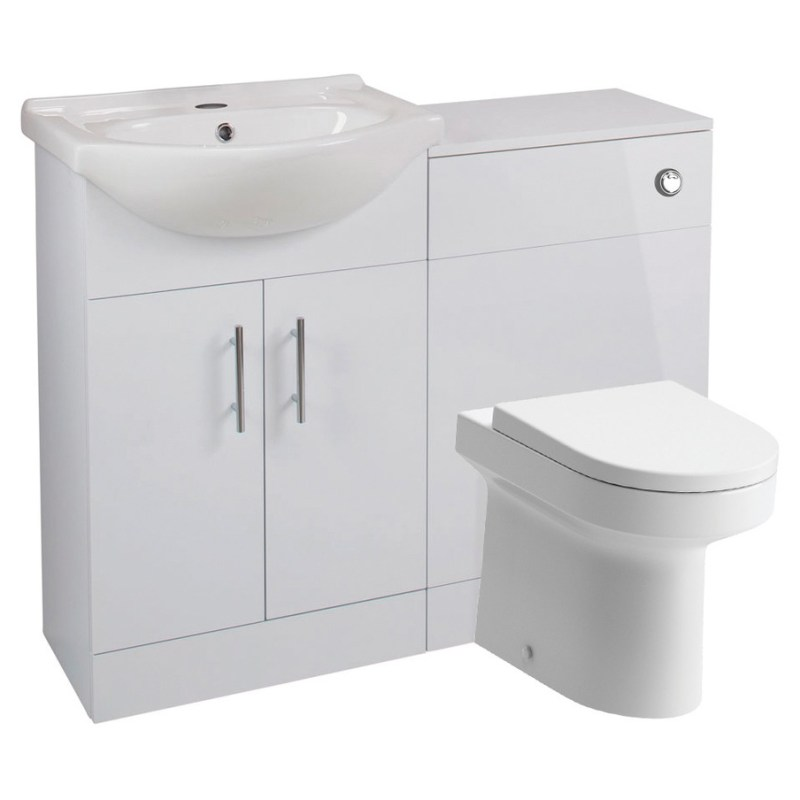 Bathrooms To Love Vista 550mm Basin & WC Unit Pack White