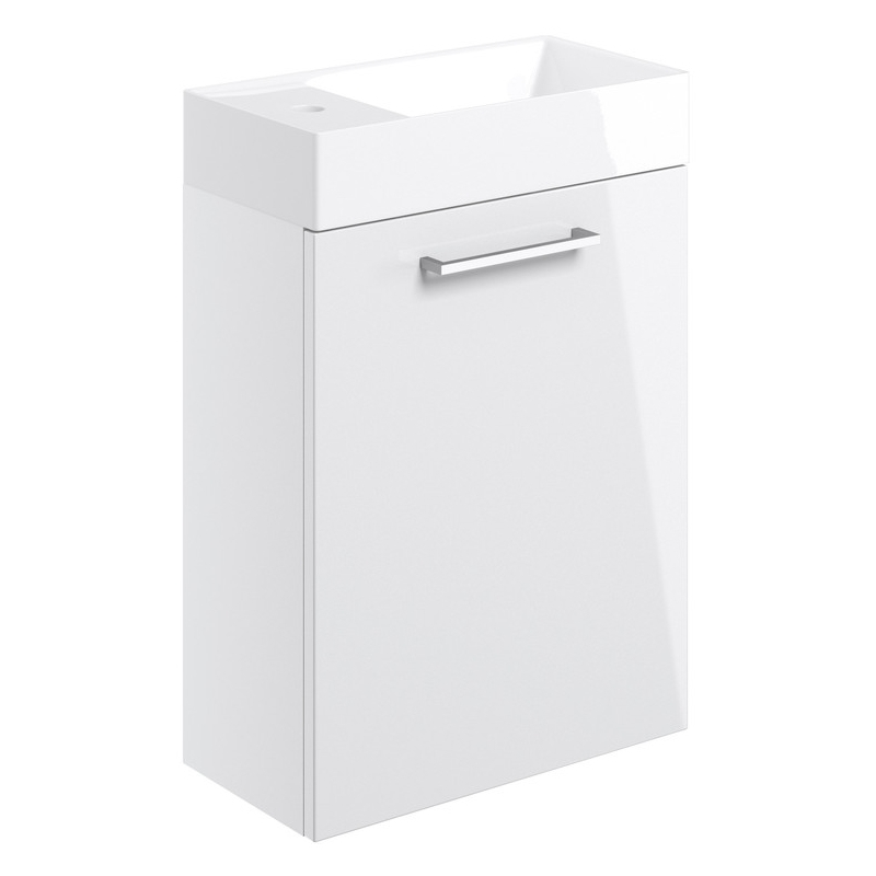 Bathrooms To Love Volta 410mm Wall Hung Unit & Basin White