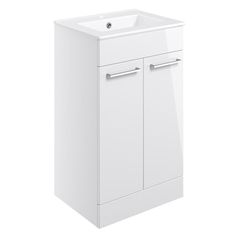 Bathrooms To Love Volta 510mm Floor Standing Unit & Basin White