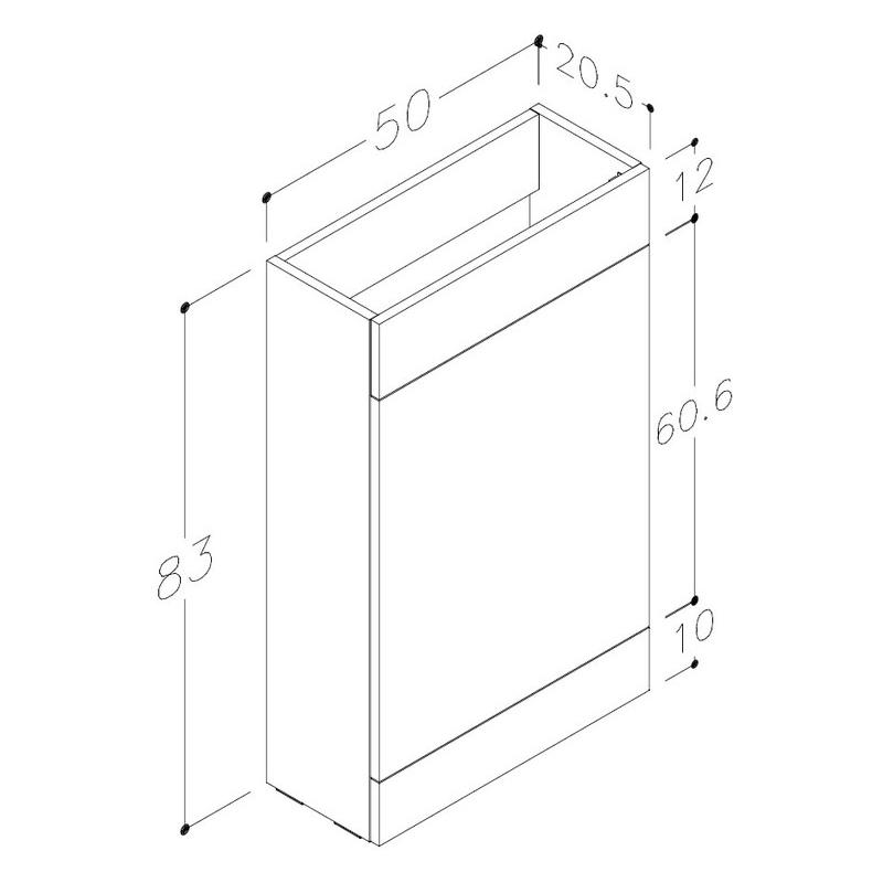 Bathrooms To Love Venosa 1100mm Floor L-Shape Pack RH Anthracite