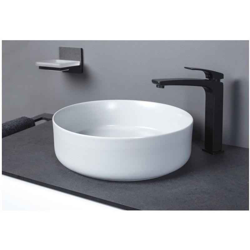 Bathrooms To Love Luxey 355mm Ceramic Washbowl & Waste Matt White