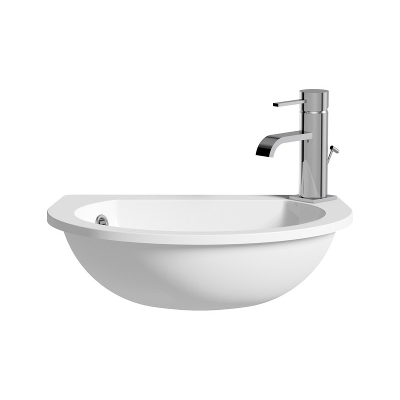 Bathrooms To Love Space Saver 490x355mm Semi Recessed Basin