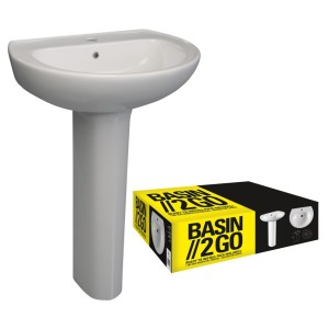 Bathrooms To Love 2 Go 573x460mm 1 Tap Hole Basin & Pedestal