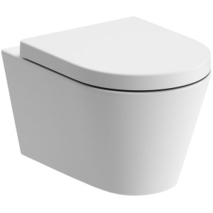 Bathrooms To Love Cilantro Rimless Wall Hung WC & Soft Close Seat