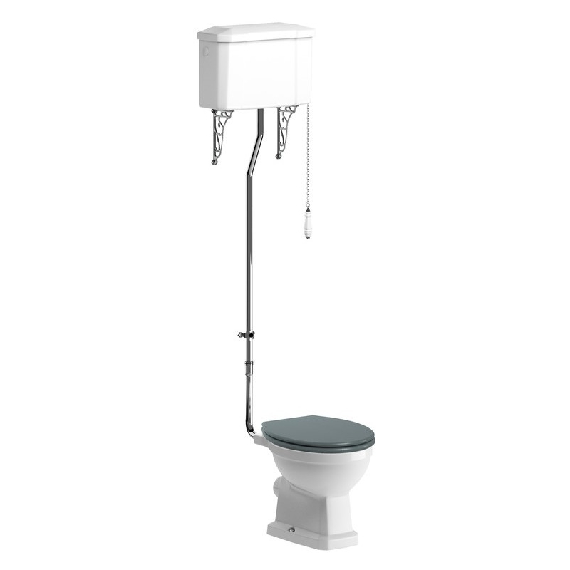 Bathrooms To Love Sherbourne High Level WC Pack, Sea Green Seat