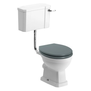 Bathrooms To Love Sherbourne Low Level WC Pack, Sea Green Seat