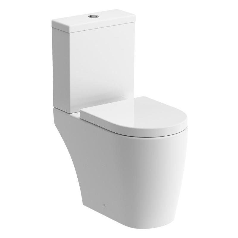 Bathrooms To Love Cilantro Rimless Open Back WC & Soft Close Seat
