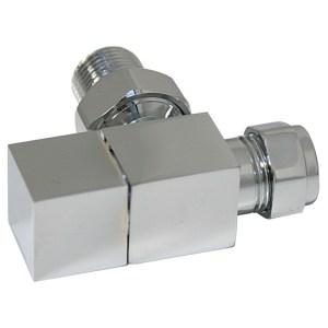 Bathrooms To Love Angled Radiator Valve Pack Chrome