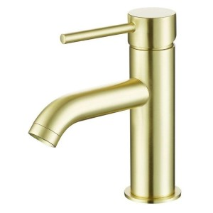 Bathrooms To Love Pesca Mono Basin Tap Brushed Brass
