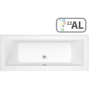 Bathrooms To Love Solarna Double End 1800x800 Bath, Airspa & LED