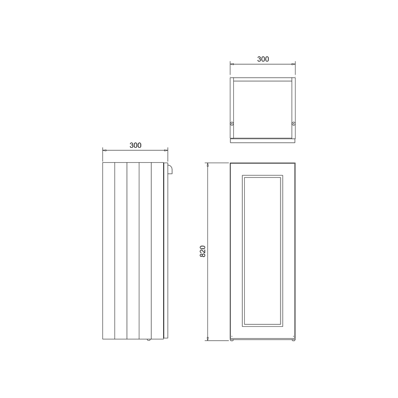 Burlington 30cm Single Door Base Unit Classic Grey