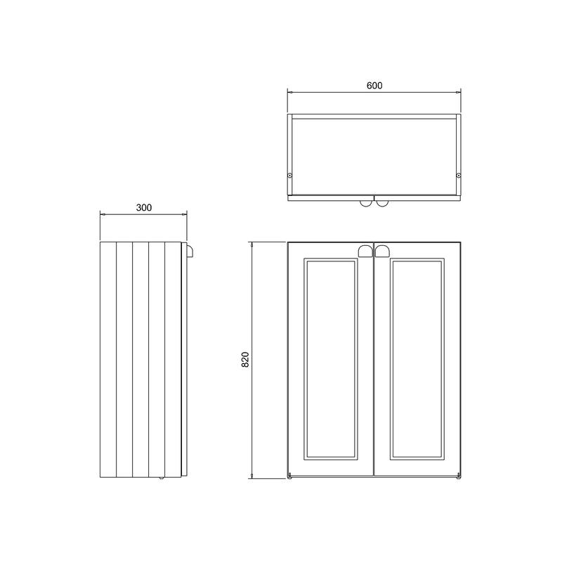 Burlington 60cm Double Door Base Unit Matt White