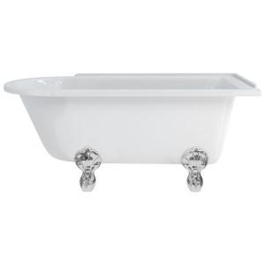 Burlington Hampton 150cm Right Handed Shower Bath, Luxury Feet