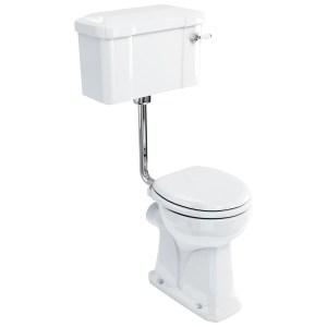 Burlington Regal Low Level Toilet, 52cm Lever Cistern