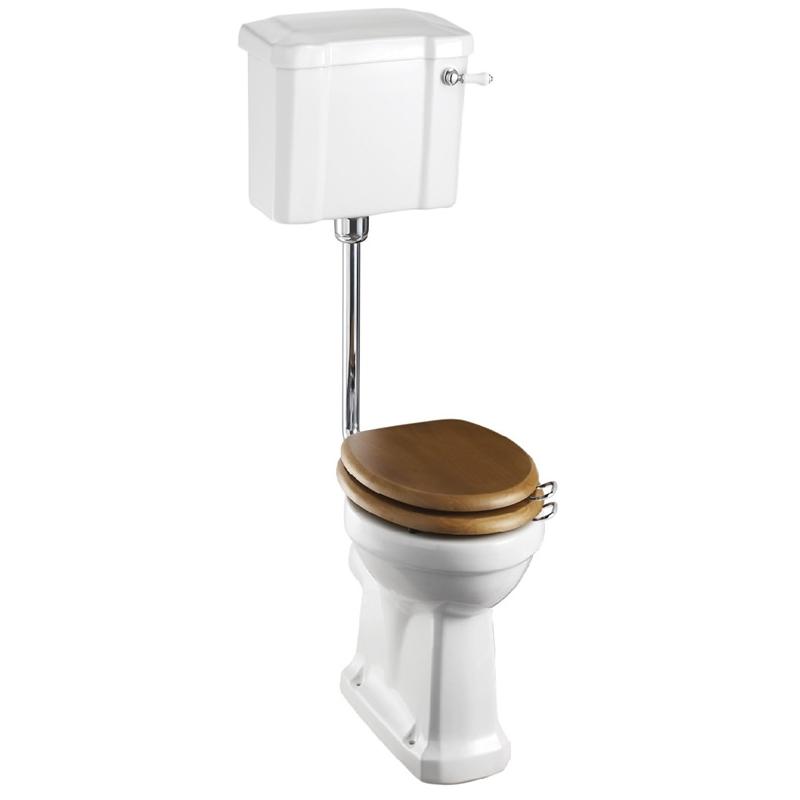 Burlington Standard Low Level Toilet with 44cm Lever Cistern