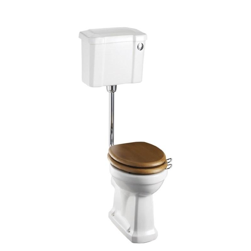 Burlington Standard Low Level Toilet, 44cm Push Button Cistern