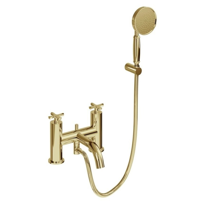 Burlington Riviera Bath Shower Mixer with Kit Gold