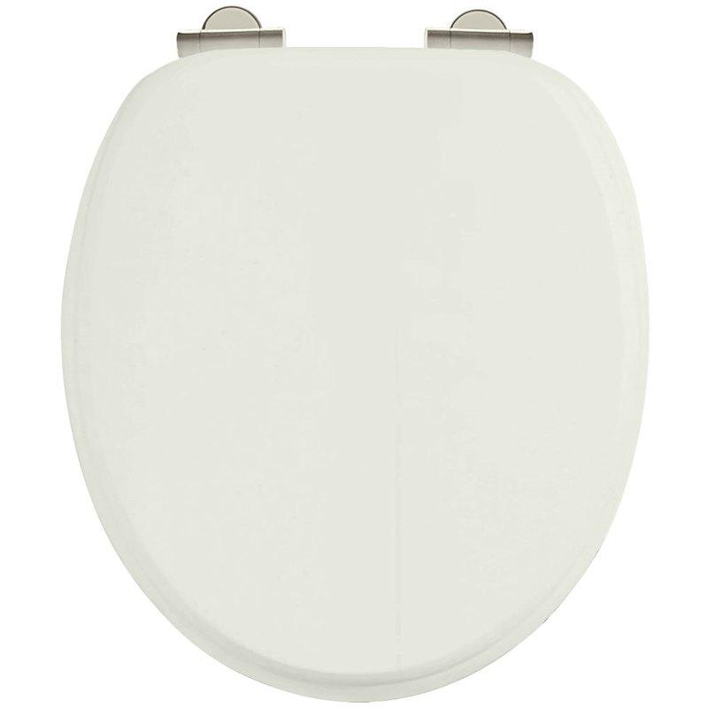 Burlington Soft Close Toilet Seat with Chrome Hinges Sand