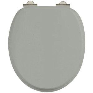 Burlington Soft Close Toilet Seat with Chrome Hinges Dark Olive