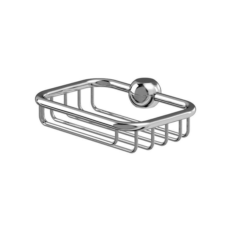 Burlington Soap Basket for Vertical Riser Chrome