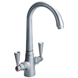 Carron Phoenix Opus Kitchen Sink Mixer Tap Brushed Nickel