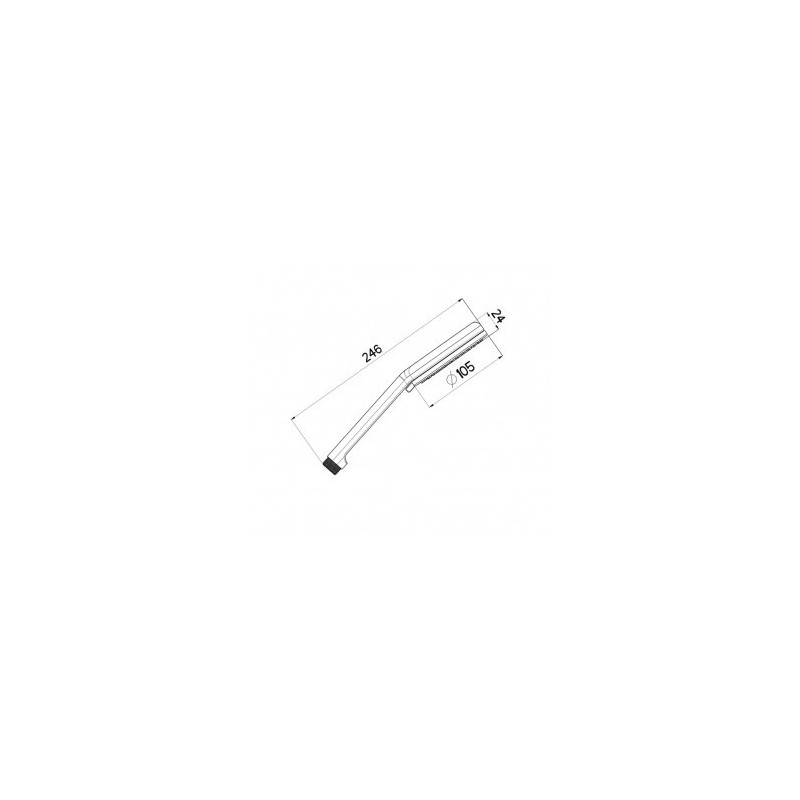 Cifial Air Soft Dual Function Flexi Shower Handset Chrome