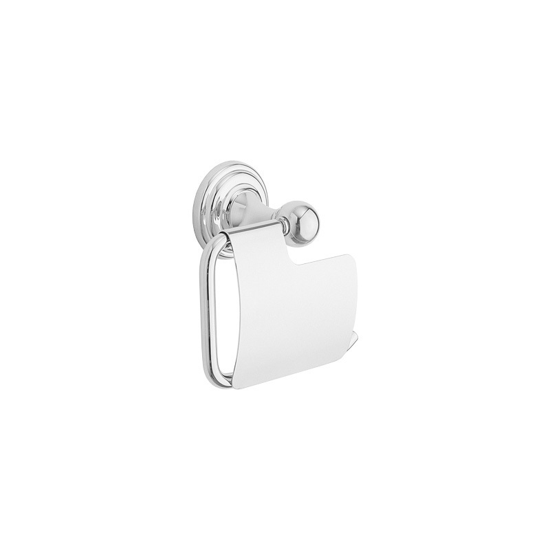 Cifial Edwardian Toilet Roll Holder & Cover Chrome