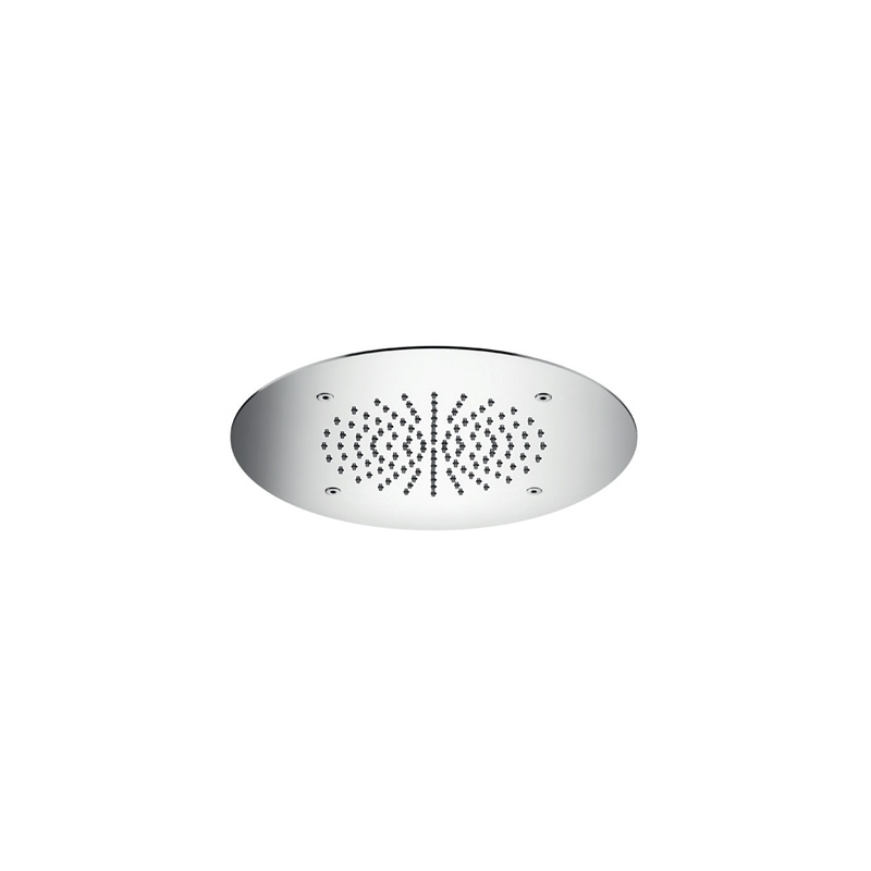 Cifial Concealed Round 280mm Shower Head Polished Steel