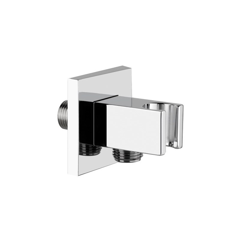 Cifial Quadra Combined Wall Outlet & Park Bracket Chrome