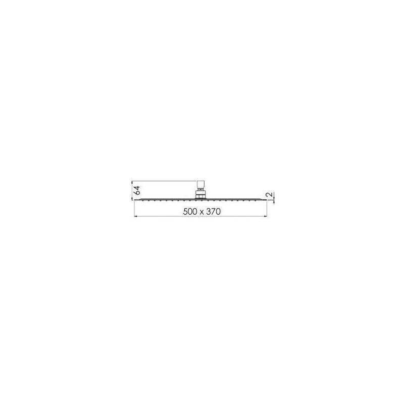 Cifial Ultra Slim Rectangular 500x370mm Shower Head Chrome