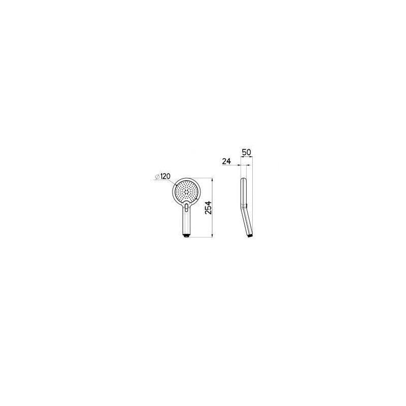 Cifial 120mm Pressure Release Flexi Shower Handset