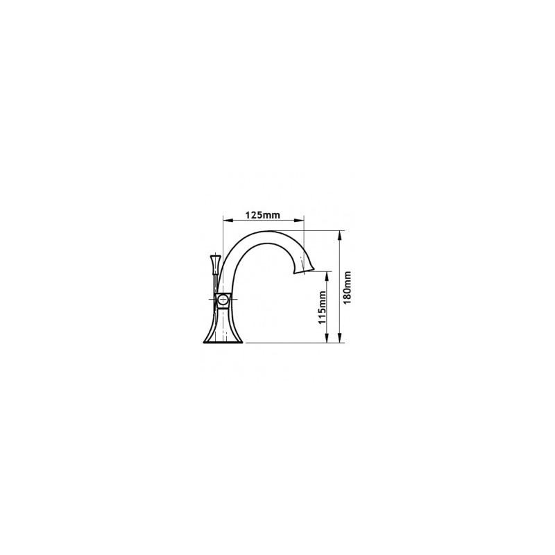 Cifial Brookhaven Lever 3 Hole Deck Basin Mixer Chrome