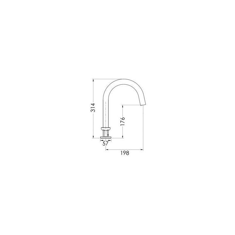 Cifial Texa 3 Hole Deck Bath Mixer