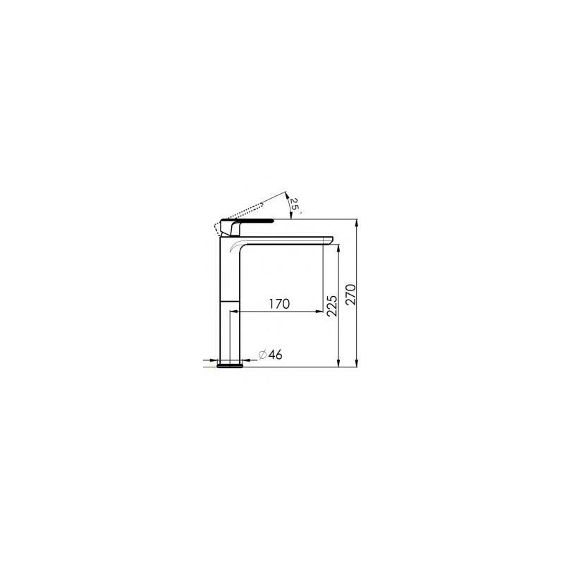 Cifial Emmie Tall Mono Basin Mixer Chrome