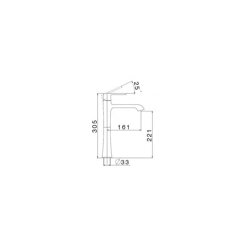 Cifial Hexa Lever Tall Mono Basin Mixer Chrome