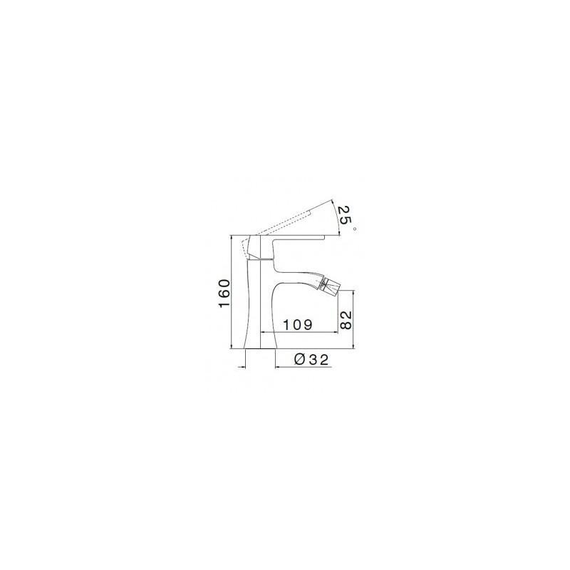 Cifial Hexa Lever Mono Bidet Mixer Chrome